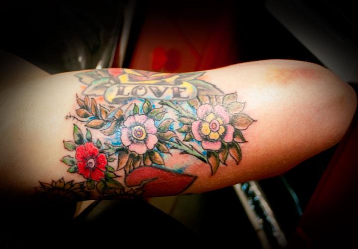 Inner Arm Flower Tattoos Inner Arm Flower Tattoos